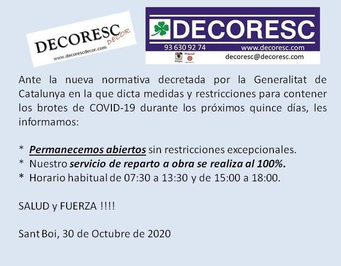 Restricciones en Catalunya por COVID-19